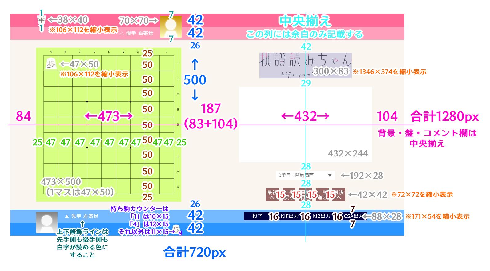 棋譜読みちゃん グラフィック配置図1